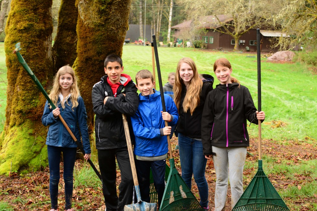 Spring Work Day at Camp Lutherwood Oregon