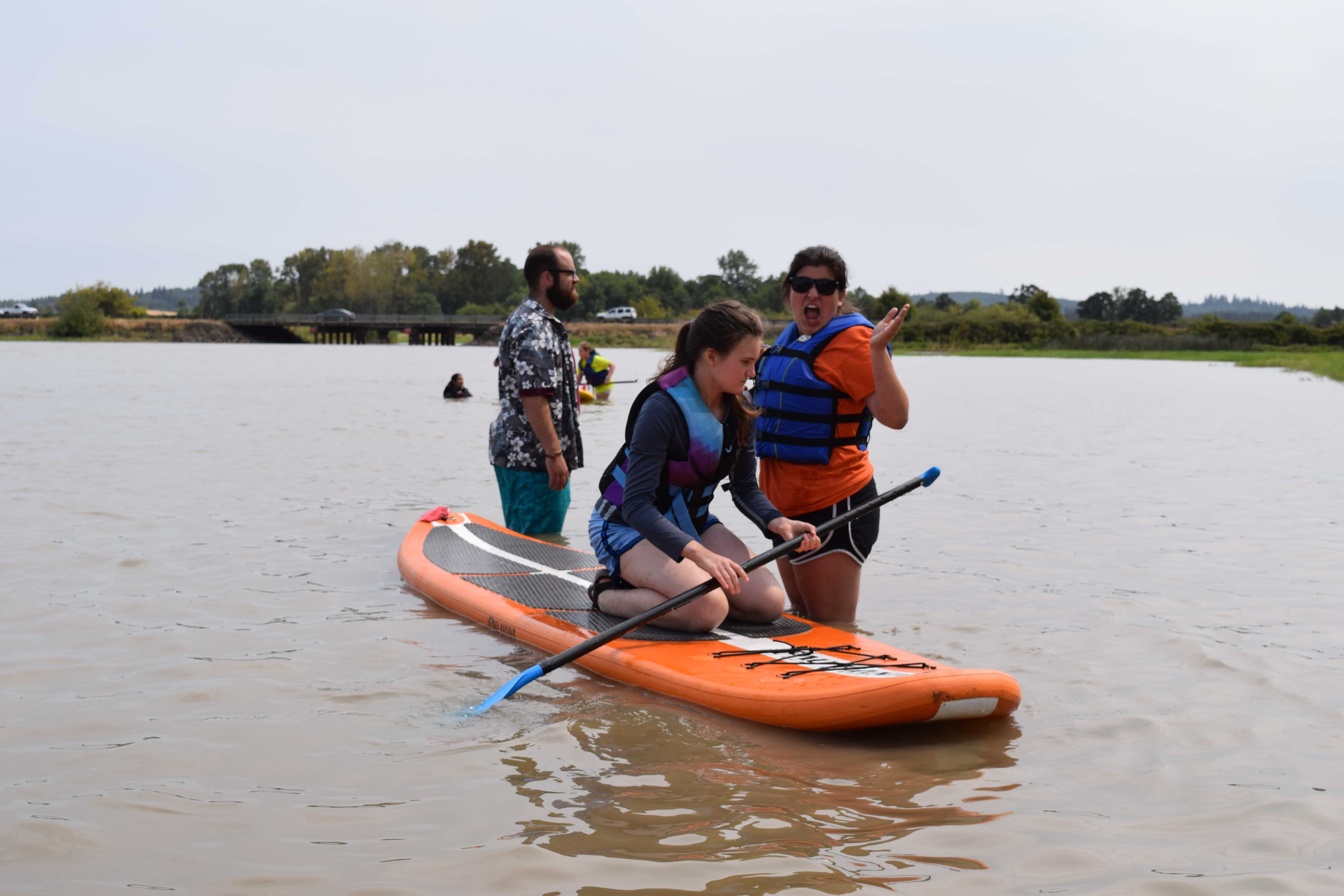 Base Campers got in on the Stand-Up Paddleboarding (SUP) trend this summer